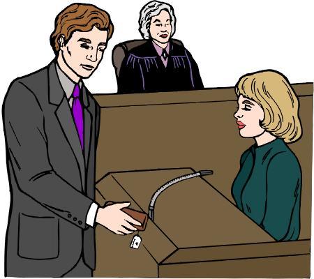 Свидетельница на суде