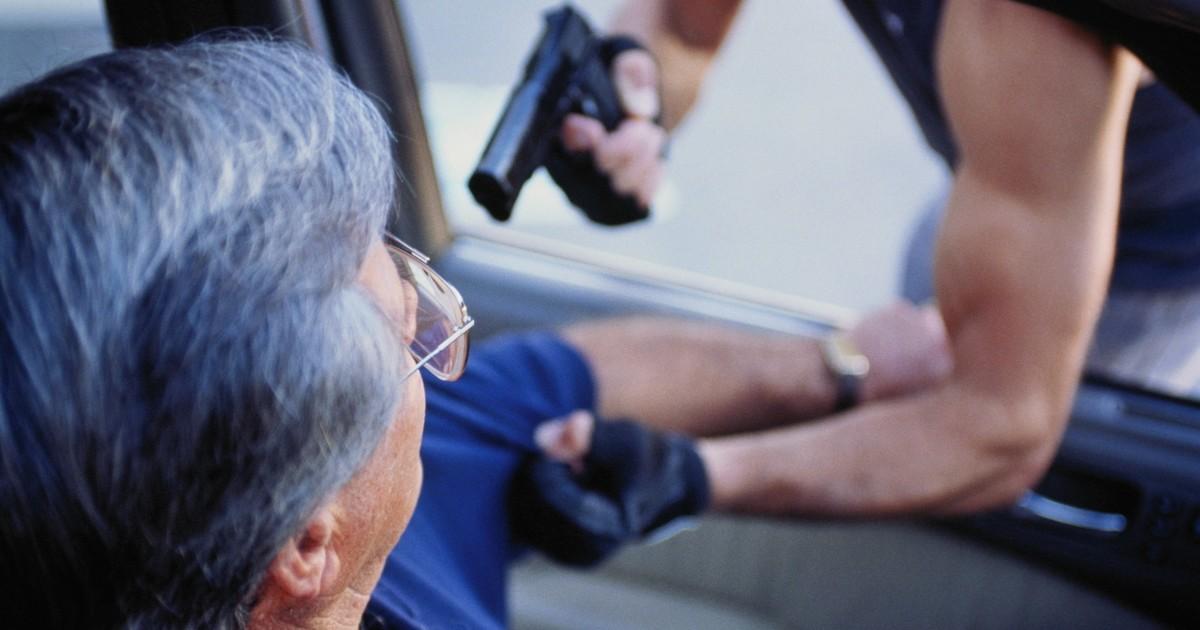 Преступник с пистолетом